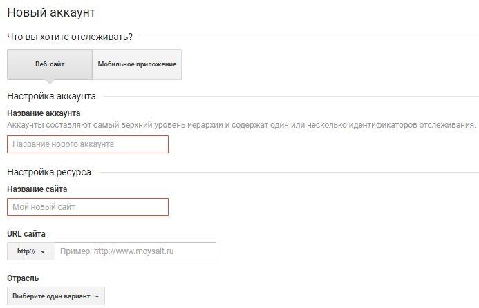 Створення лічильника в Google Analytics